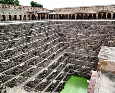 famous stairs amazing chand baori well india world for travel