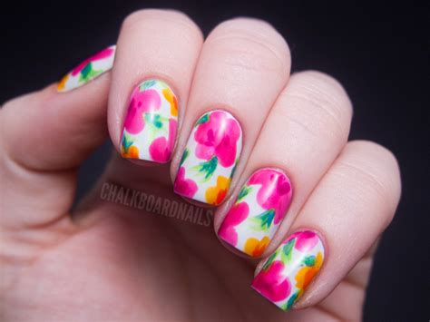 flower nail design china glaze summer neons nail art hawaiian floral