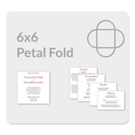 Petal Fold 6x6 Invitation Template 2 Fold Invitation Card Template