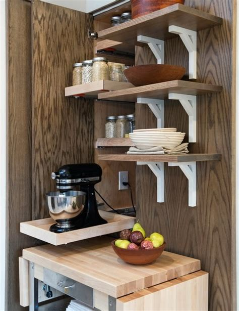 clever storage ideas for small kitchens picture of creative appliances storage ideas for small