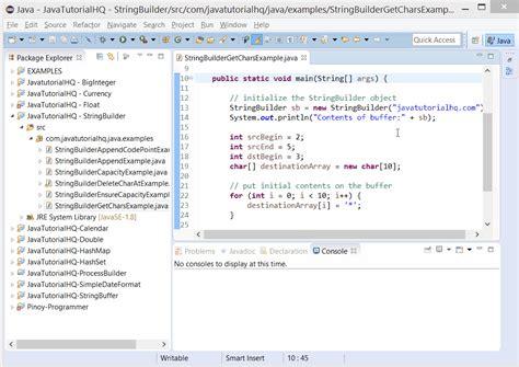 java stringbuilder getchars method exle