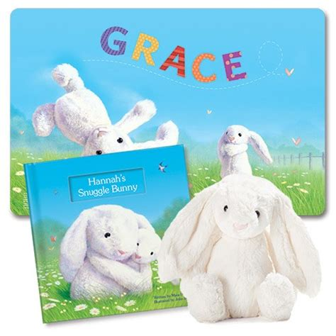 snuggle bunnies books my snuggle bunny personalized book gift set i see me