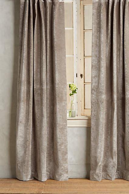 Slub velvet taupe curtain