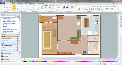 creating blueprints floor plan