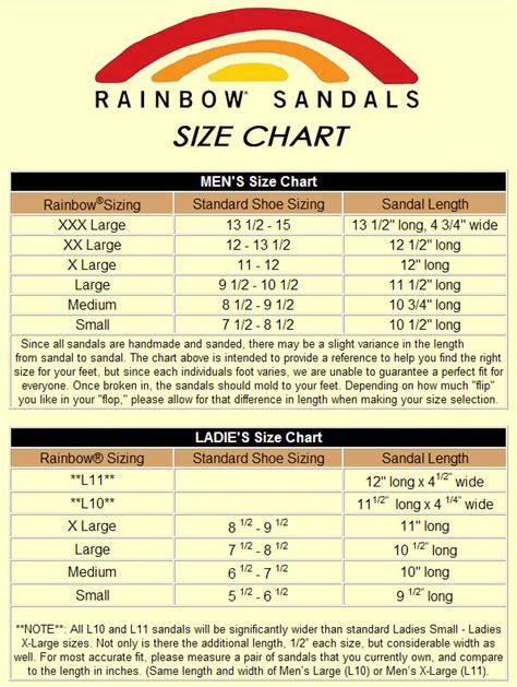 rainbow sandal sizing rainbow sandals size chart team one newport