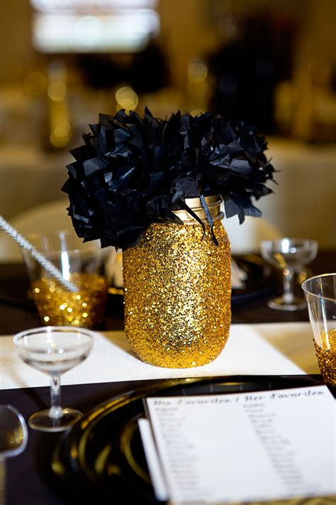 black and gold centerpieces black and gold bridal shower lillian designs