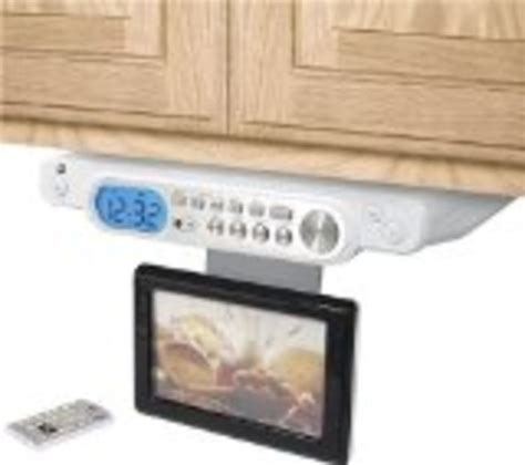 kitchen tv radio under cabinet best under cabinet tvs for kitchen tv dvd combo or tv