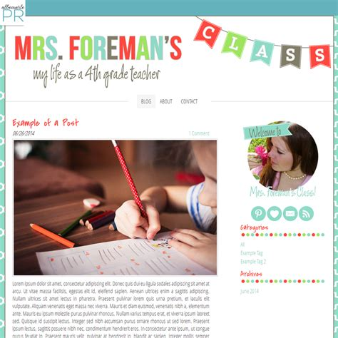 weebly templates for photographers colorful bunting premade weebly template for teachers