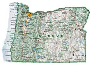 17 best images about oregon maps on highway