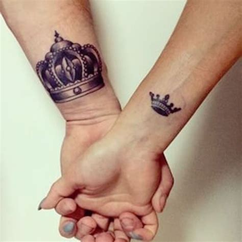 cute relationship tattoos 45 king and for couples buzz 2016