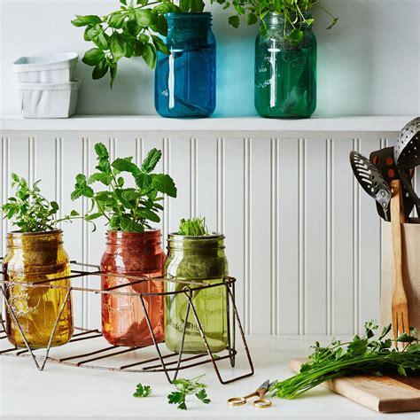 garden jar herb kit  images herbs indoors mason