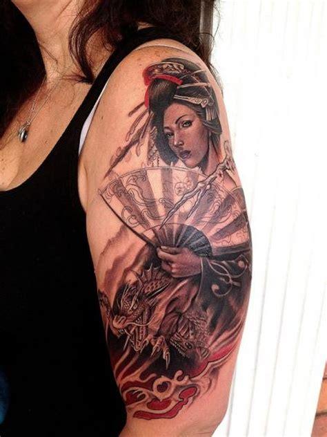 tattoo geisha hombro tatuaje hombro japoneses geisha por rember tattoos