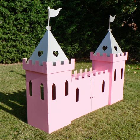 cardboard large princess castle white by kid eco ebay