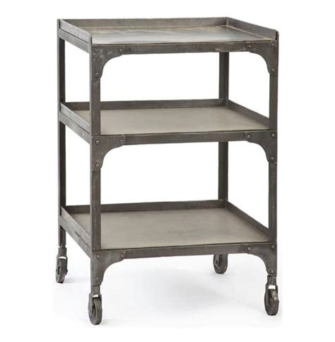 30 Side Table by Demar Industrial Loft Galvanized Steel 30 Quot Side Table