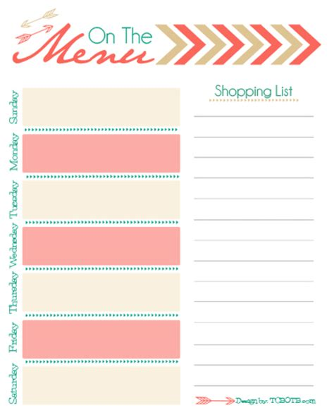Free Meal Plan Calendar Printable blog the cutest blog on the block page 3