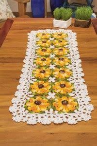 yellow pattern table runner free crochet table runner pattern yellow flowers