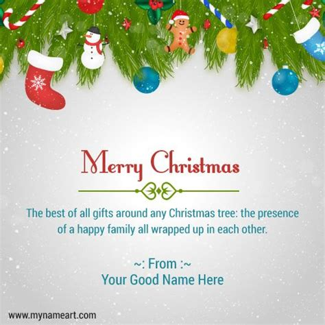 create merry christmas wishes greeting card  family  maker    christmas