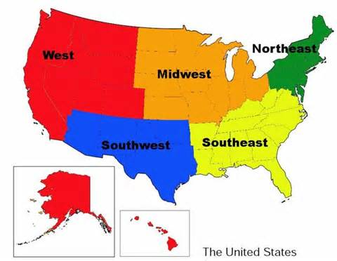 map of the united states southwest region pin us southwest region map on pinterest