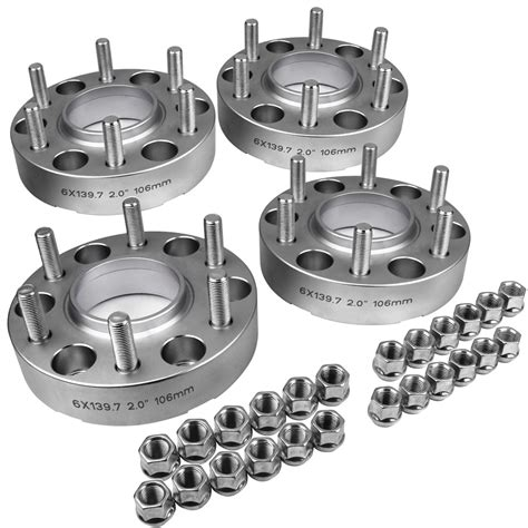 4pc 2 quot inch 6 lug hub centric wheel spacers toyota t100