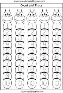 number tracing 1 10 kindergarten worksheets pinterest
