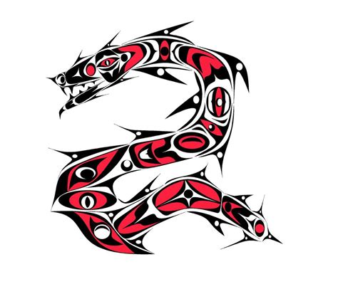 tlingit dragon with red by skullzapper on deviantart