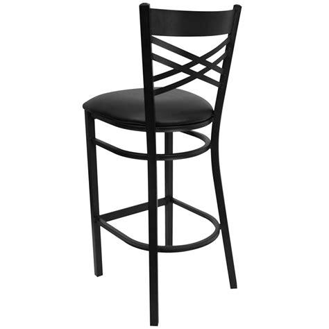 restaurant quality bar stools metal x back barstool