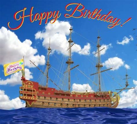 Happy Birthday Tall Ship  Free Happy Birthday eCards