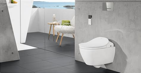 wand dusch wc villeroy boch viclean shower toilets