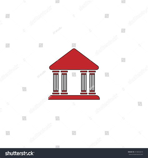 Justice Court Search Justice Court Simple Icon On White Background Flat Pictogram Stock Photo
