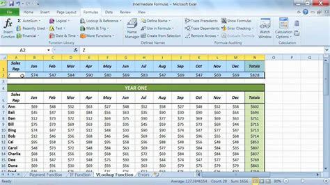 tutorial microsoft excel 2010 microsoft excel 2010 tutorial using the vlookup functions