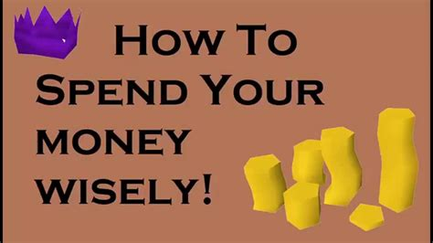runescape how to spend your money wisely useful skills youtube