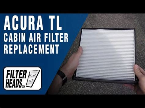 how to replace cabin air filter acura tl youtube
