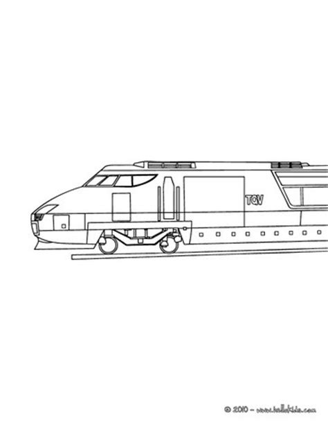 high speed rail engine side view coloring pages