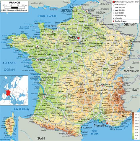 printable road maps of france maps of france detailed map of france in english