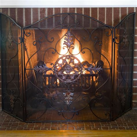 Antique Fireplace Doors by Antique Rust Fireplace Screen On Custom Fireplace Quality