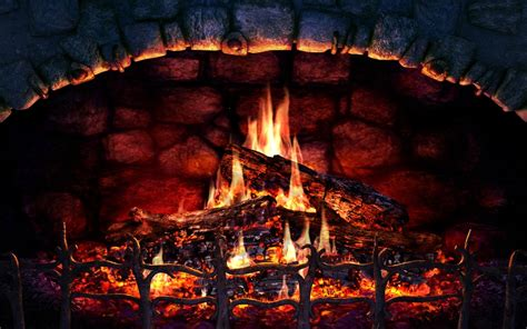 fireplace background wallpapeers win10 themes