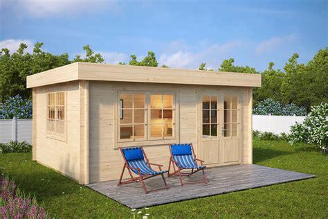 pavillon 4x5 gartenhaus mit flachdach ian a 18m 178 58mm 4x5