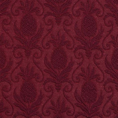 Upholstery Grade Fabric by Burgundy Pineapple Jacquard Woven Upholstery Grade Fabric