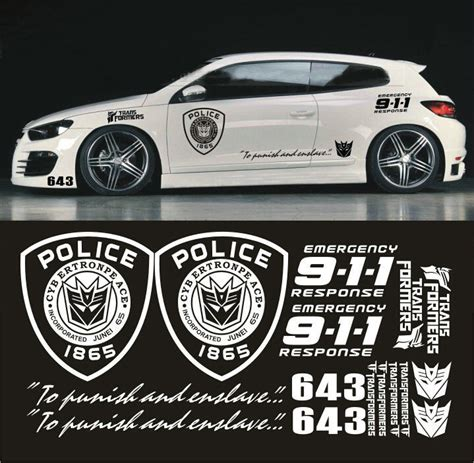 Auto Sticker Transformers by 1 Set Car Styling Transformers Car Stickers Decepticon