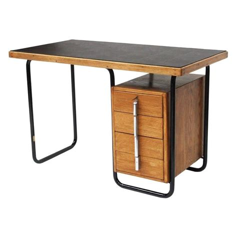 1930s bauhaus oak desk by welles coates for kingfisher