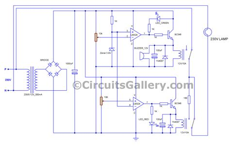 voltage stabilizer circuit diagram ac voltage