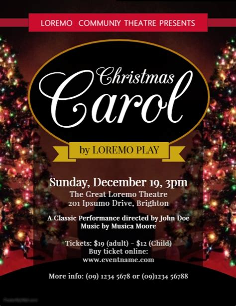 Christmas Carol Flyer Template Postermywall Caroling Flyer Template