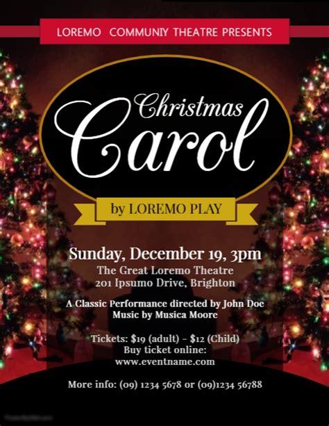 Caroling Flyer Template Christmas Carol Flyer Template Postermywall