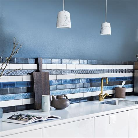 blue tile kitchen backsplash best 25 blue kitchen tiles ideas on kitchen