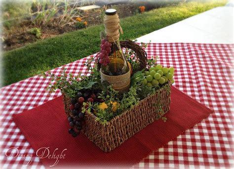 Dining Delight Italian Wine Themed Tablescape Summer Italian Themed Centerpieces