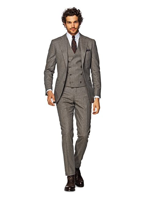 Light Brown Suit by Suit Light Brown Stripe Lazio P3681i Suitsupply Store