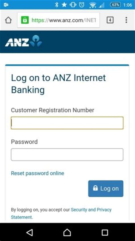 anz banking logon mobile banking sms scam snares victims with websites