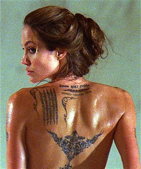 angelina jolie tiger tattoo design 63 best images about celebs with tattoos on pinterest