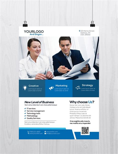 free business flyer templates psd corporate business is free psd flyer template to