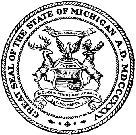 State Of Michigan Search Great Seal Of The State Of Michigan Models Picture